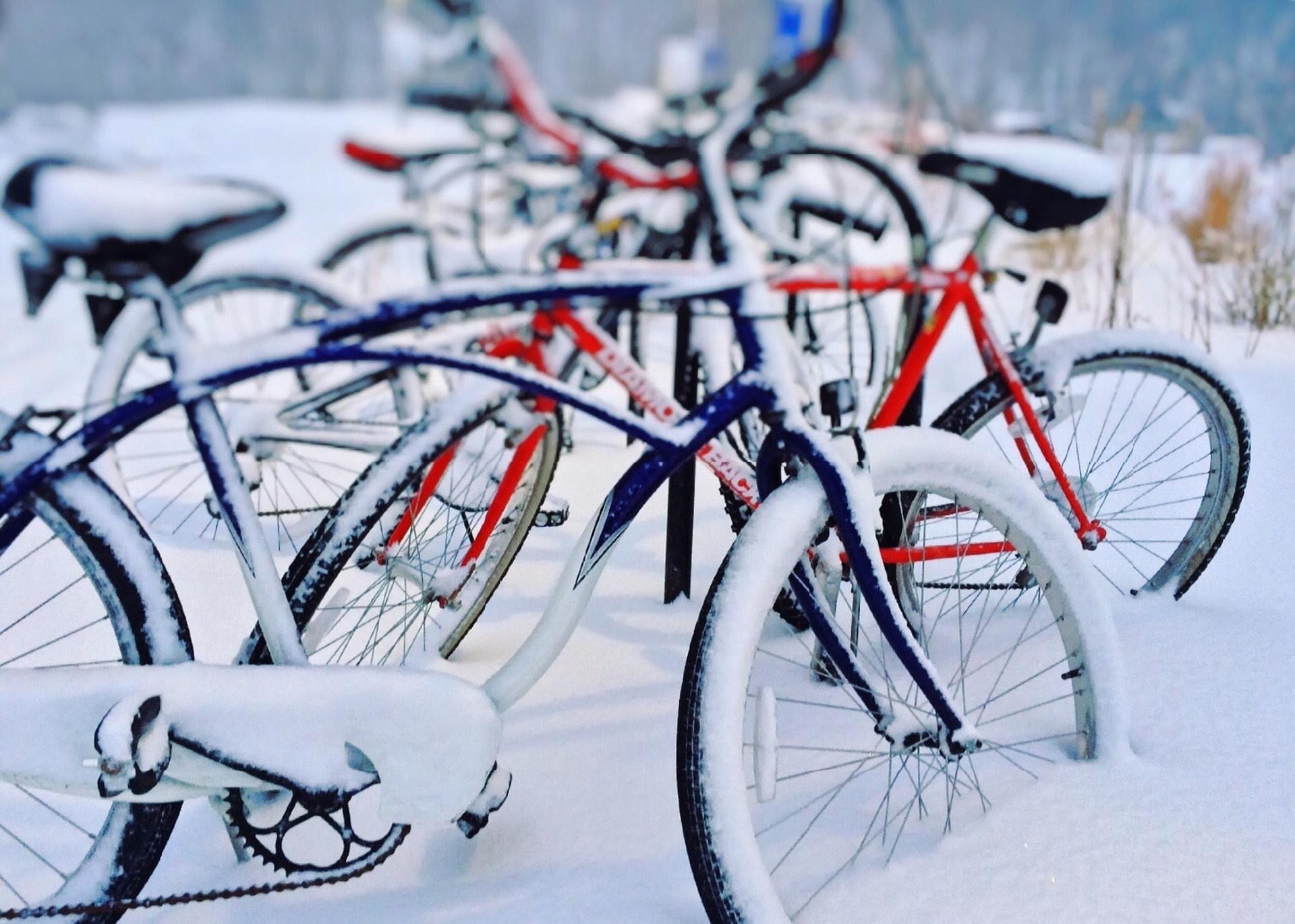 fahrr der im schnee min fahrrad selber reparieren. Black Bedroom Furniture Sets. Home Design Ideas