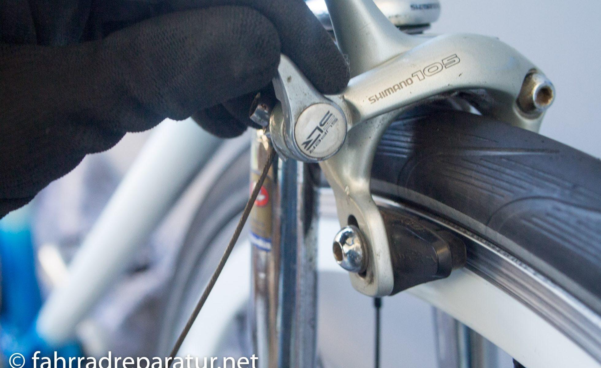 V-Brake Bremse am MTB einstellen - fahrradreparatur.net