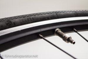 Fahrradmantel schief