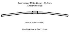 mountainbike größe maße durchmesser
