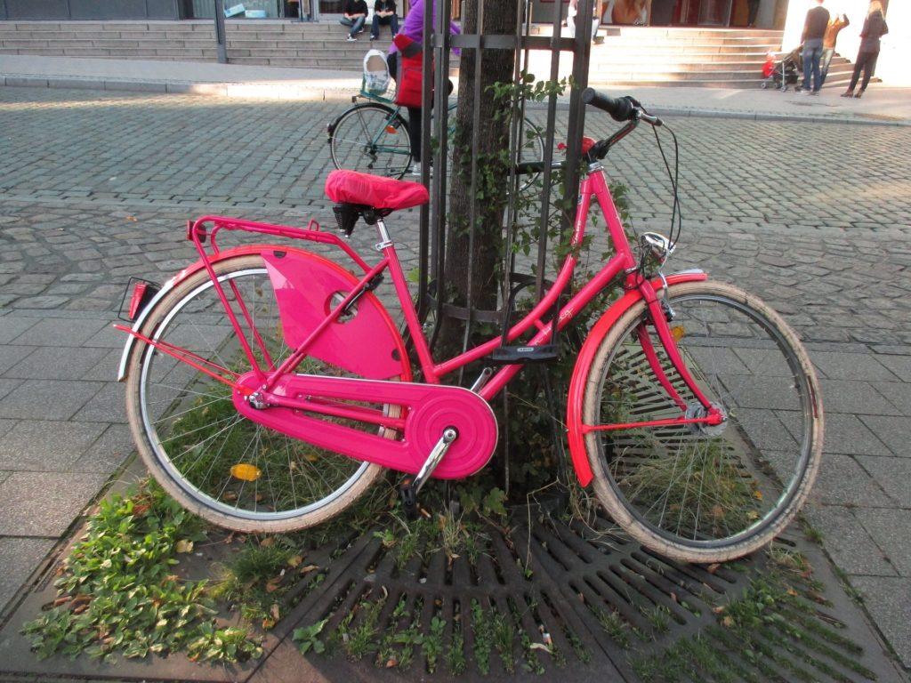 hollandrad pink kettenschutz vollkettenschutz kettenkasten mode