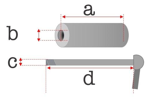 steckachse größe diagramm